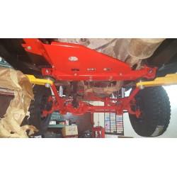 Osłona Reduktora, czerwona : 99-04 Jeep Grand Cherokee WJ 4.0 4.7